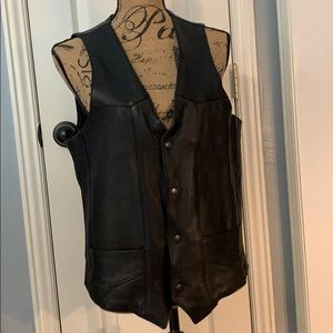 Park V Leather Vest